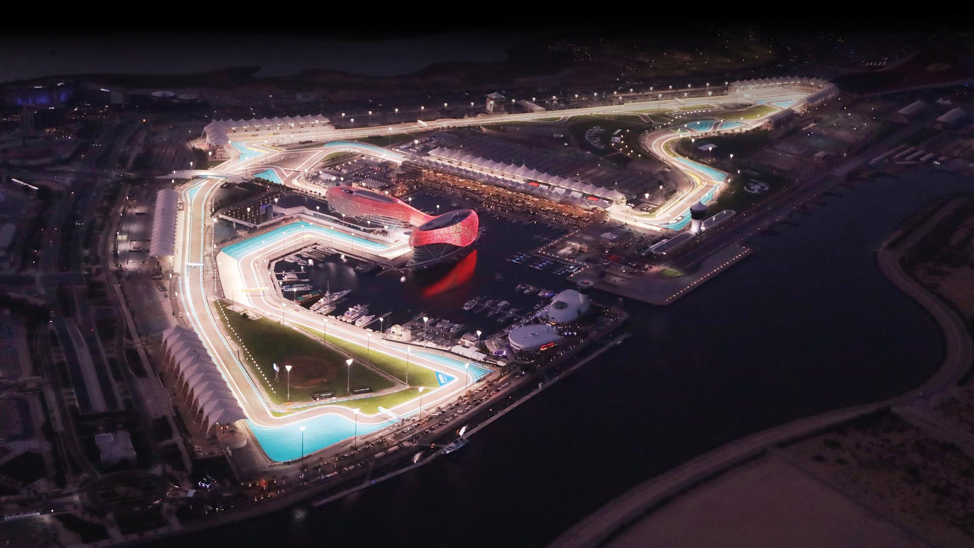 Yas Marina circuit at night