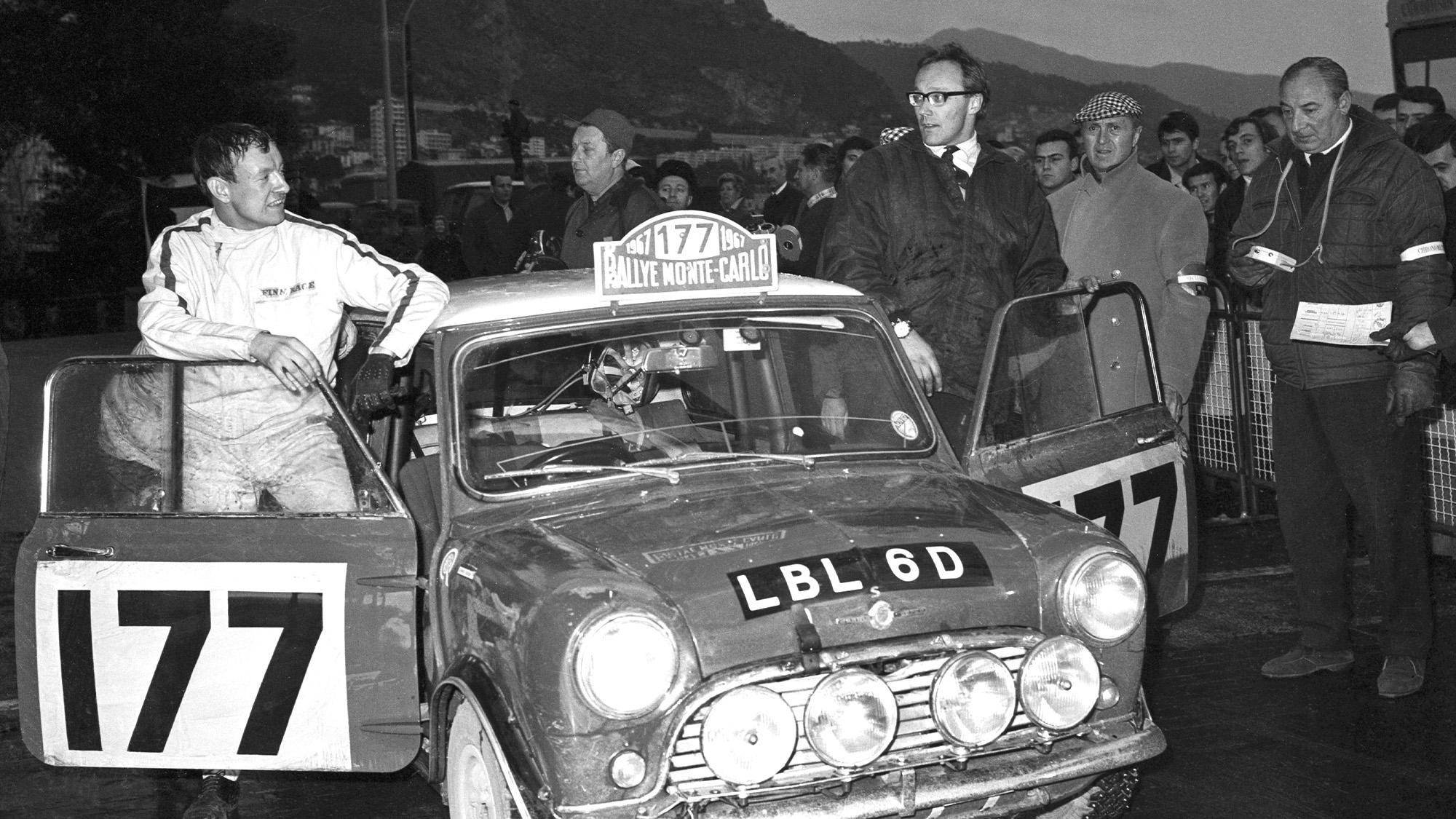 Rauno Aaltonen et Henry Liddon Mini Cooper S at the Monte Carlo Rally