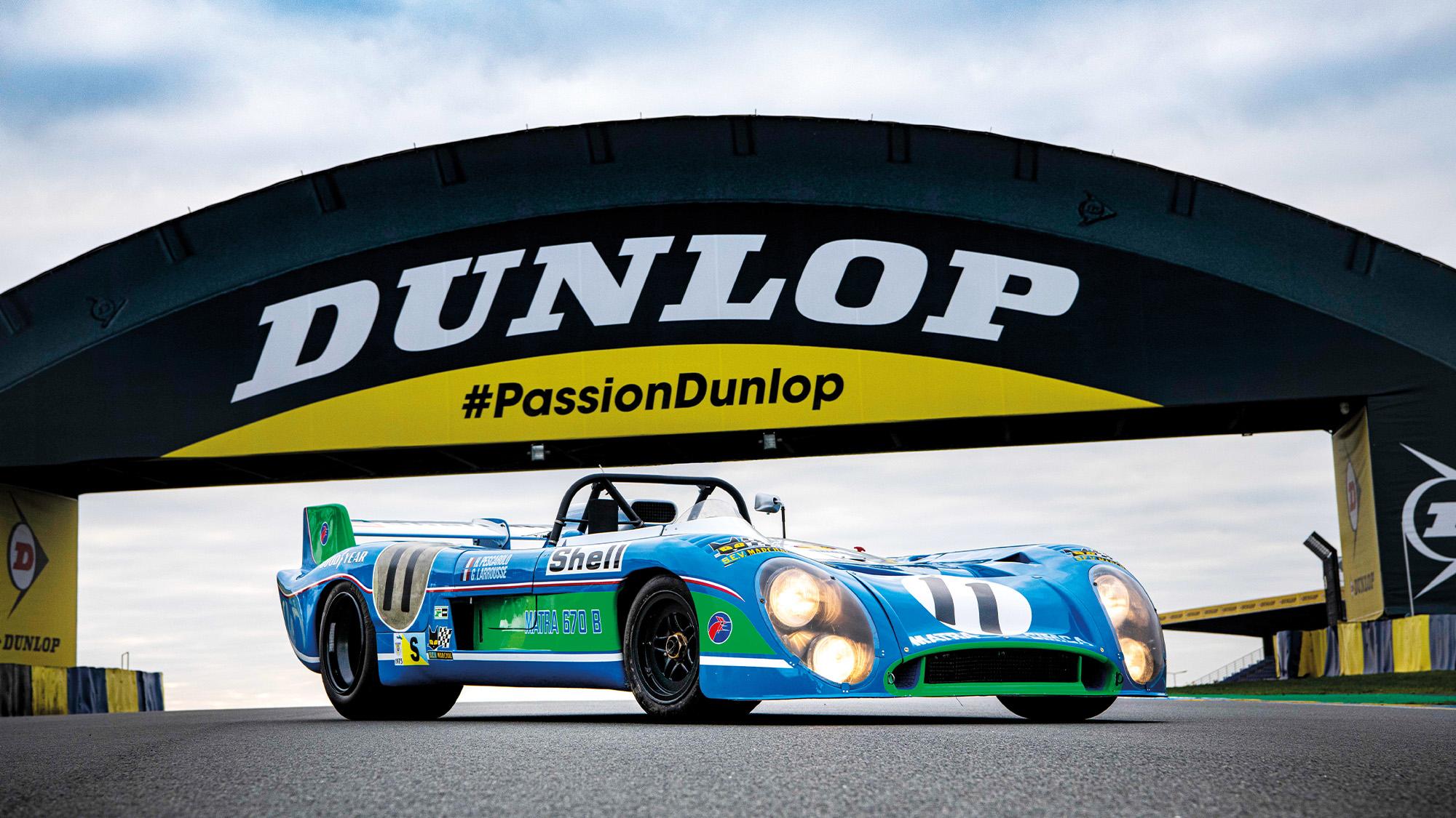 Matra MS670 at the Le Mans Dunlop Bridge