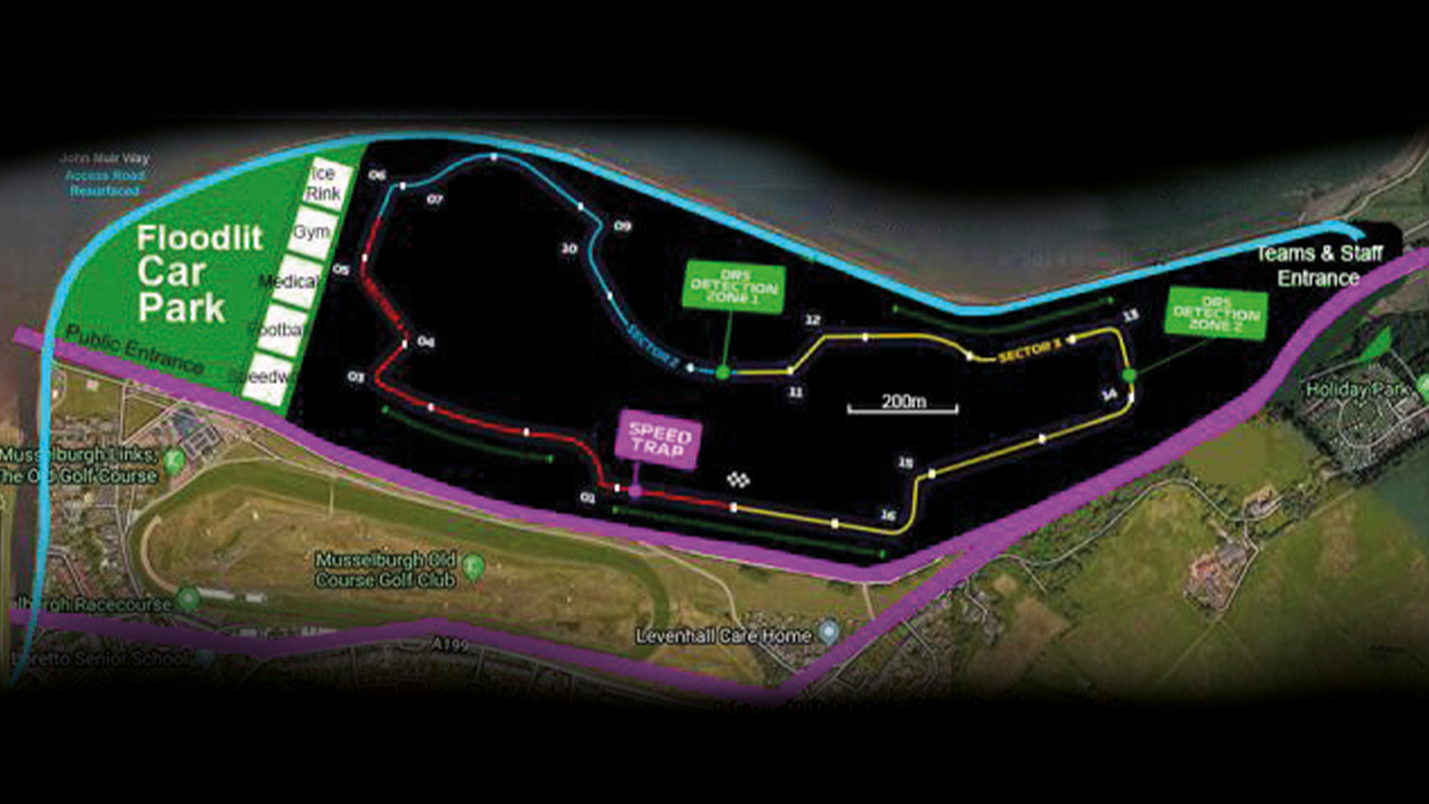 Proposed Musselburgh Lagoons race track