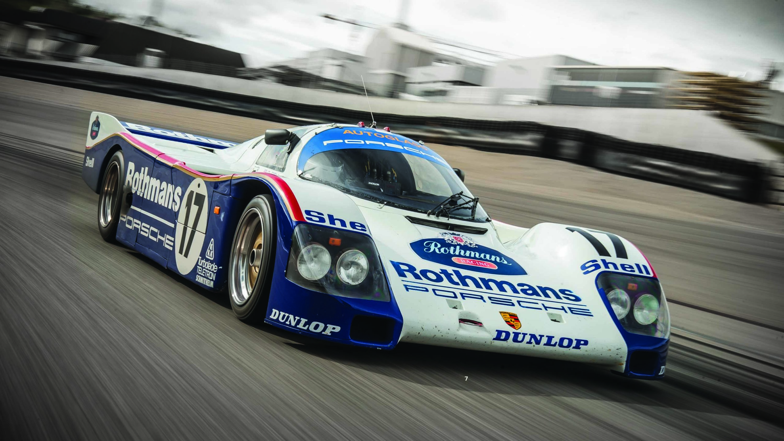 Porsche 962 on track at Silverstone