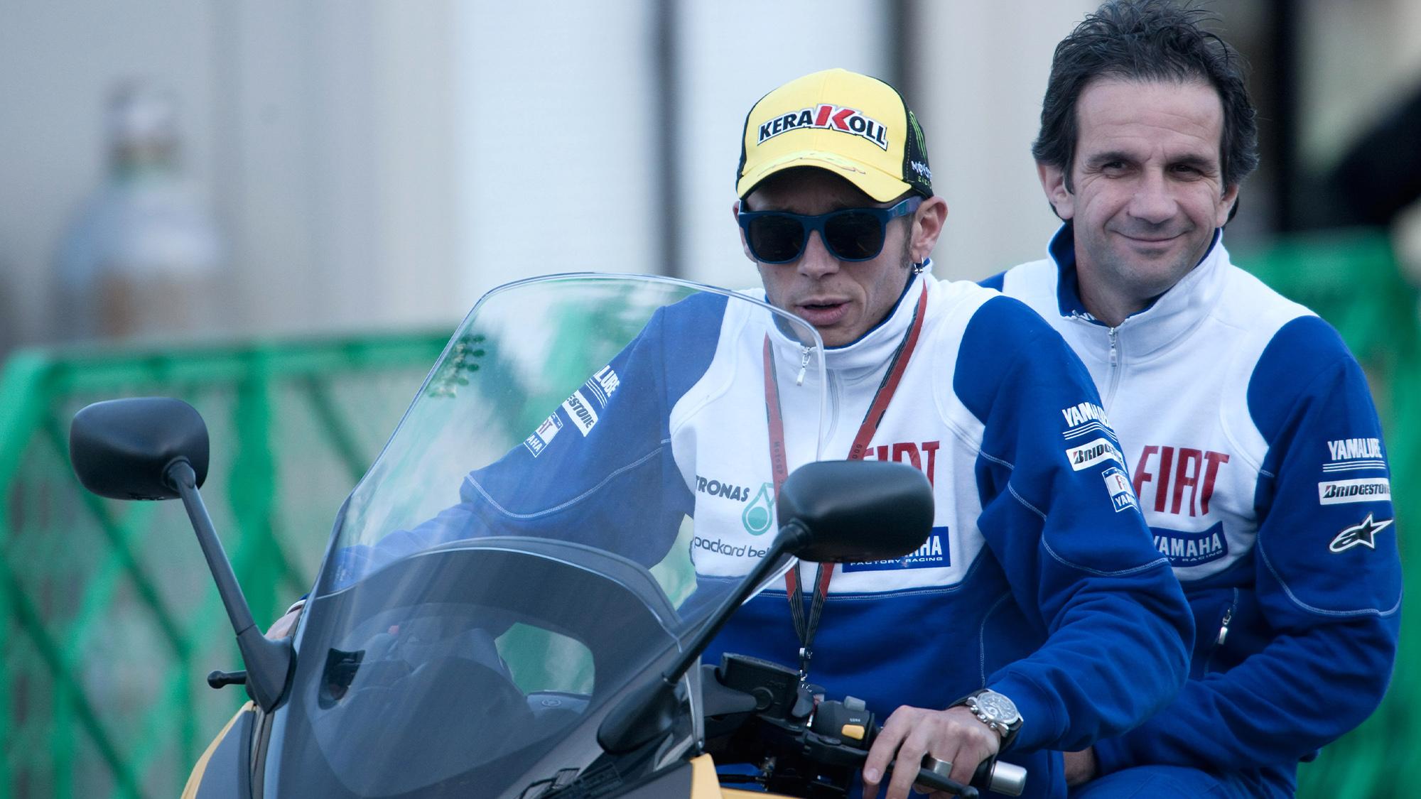 Valentino Rossi with Davide Brivio in 2009