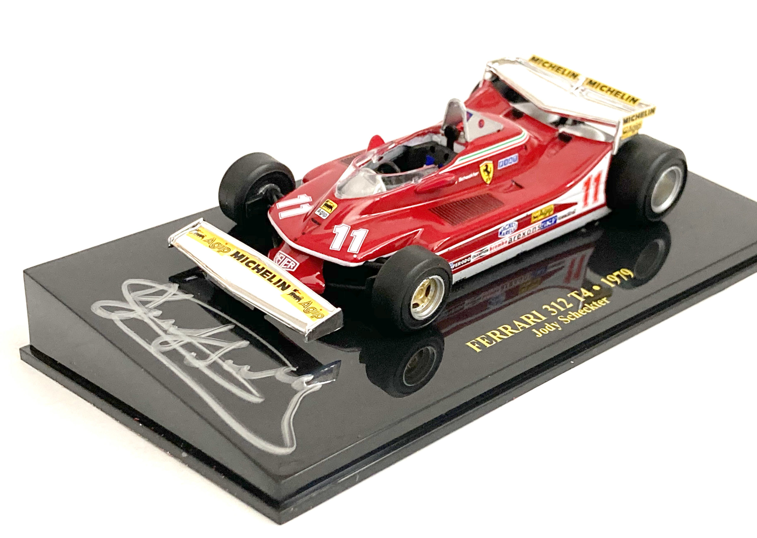 Product image for Ferrari 312T4 Monaco GP win | cased 1:43 | signed Jody Scheckter
