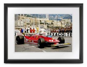 Product image for Ferrari 312 T4 photo | 1979 Monaco Harbour | signed Jody Scheckter