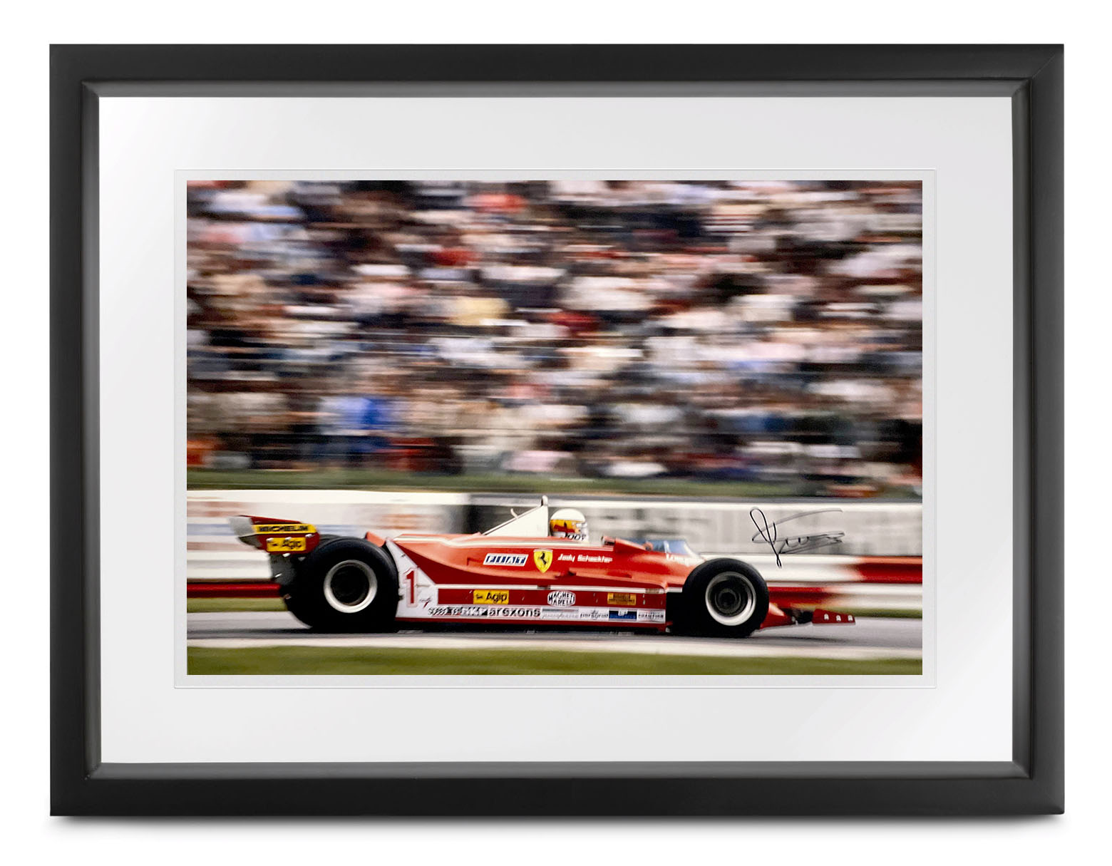 Product image for Ferrari 312 T5 photo | 1980 Brands Hatch | signed Jody Scheckter