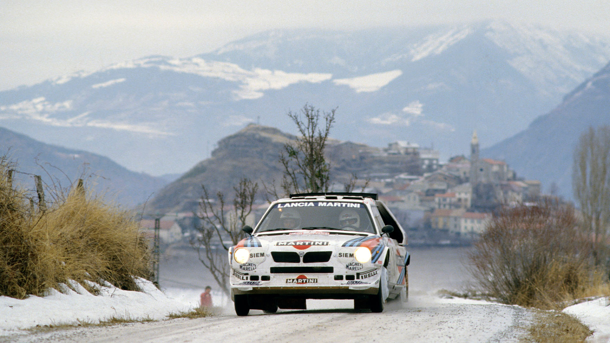 MOTORSPORT - WRC 1986 - RALLYE MONTE CARLO - PHOTO: DPPI HENRI TOIVONEN (FIN) / SERGIO CRESTO - LANCIA DELTA S4 - ACTION