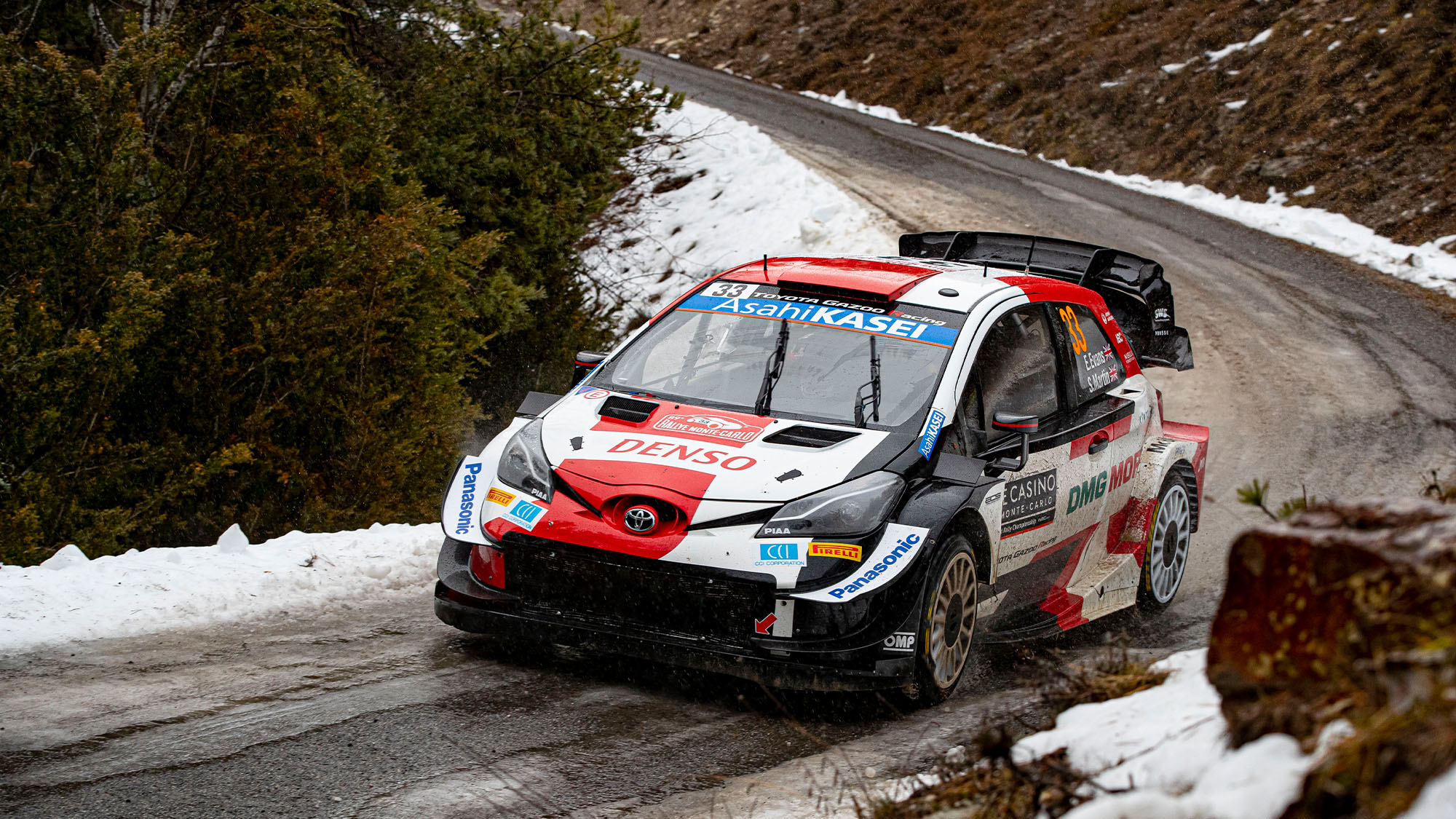 2021 Monte Carlo Rally: Evans leads after dramatic 2nd day