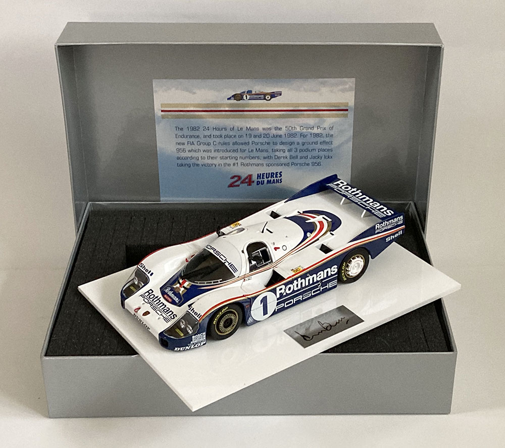 Product image for Porsche 956 | Le Mans winner | signed Derek Bell | 1:18 Box Set