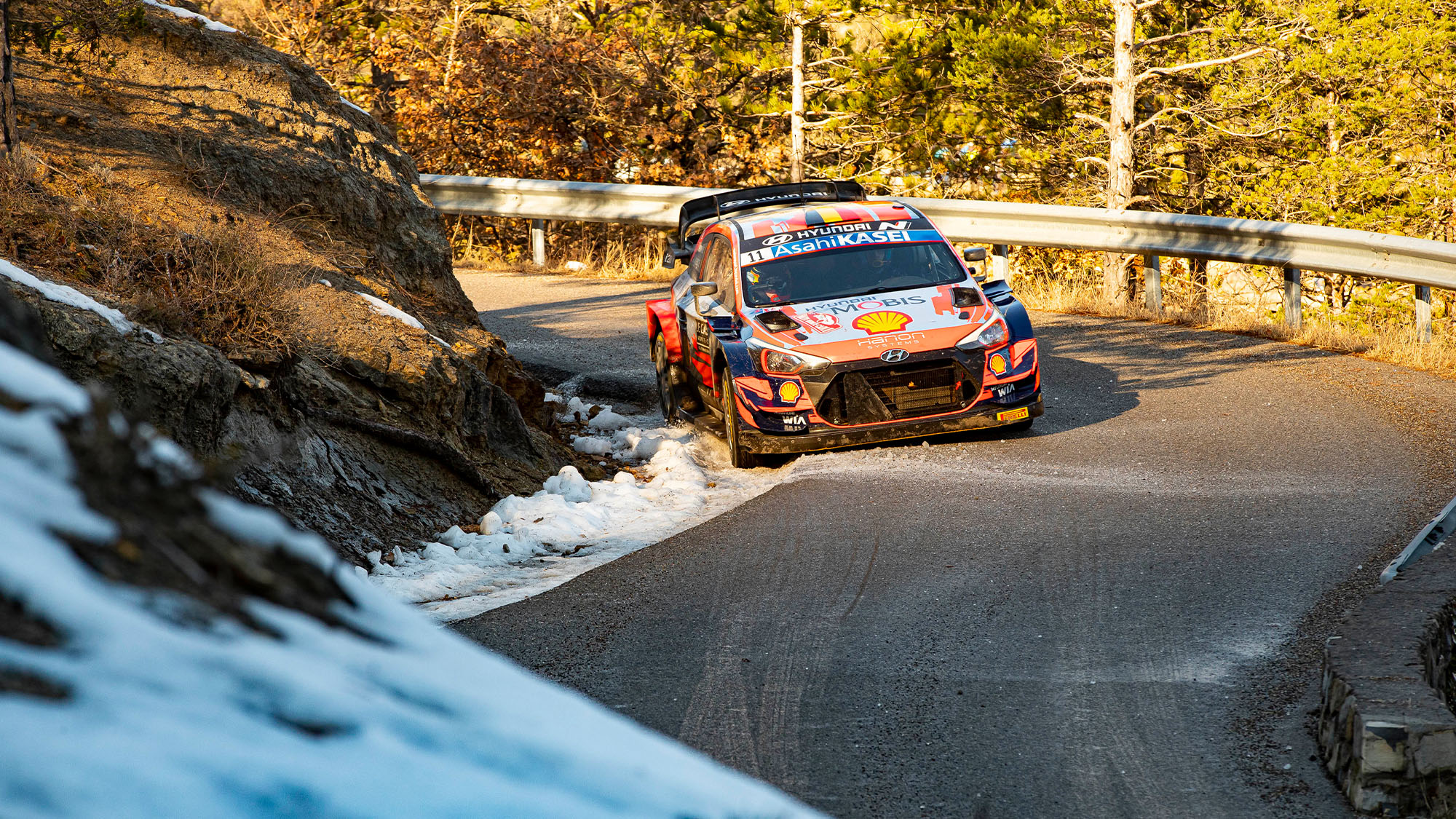 Thierry Neuville in the 2021 Monte Carlo Rally