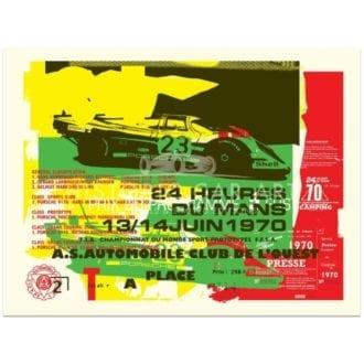 Product image for Porsche 917 | 1970 Le Mans 24 Hours Celebration | Poster no.1 | Studio Sportif | Art Print