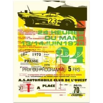 Product image for Porsche 917 | 1970 Le Mans 24 Hours Celebration | Poster no.2 | Studio Sportif | Art Print
