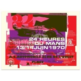 Product image for Porsche 917 | 1970 Le Mans 24 Hours Celebration | Poster no.3 | Studio Sportif | Art Print