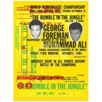 Product image for Boxing | Forman V Ali | Rumble in the Jungle Celebration | Poster no.3 | Studio Sportif | Art Print