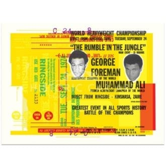 Product image for Boxing | Forman V Ali | Rumble in the Jungle Celebration | Poster no.2 | Studio Sportif | Art Print