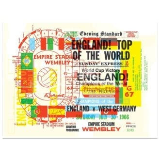 Product image for Football | World Cup 1966 Celebration | Poster | Studio Sportif | Art Print