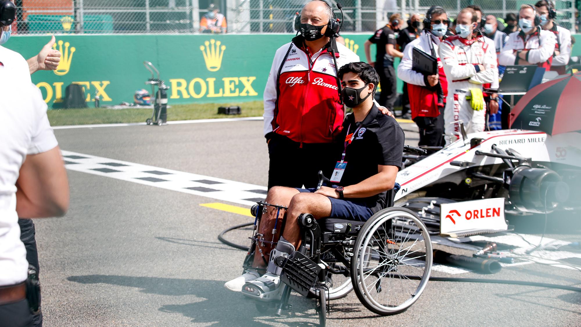 Juan Manuel Correa at the 2020 Belgian Grand Prix