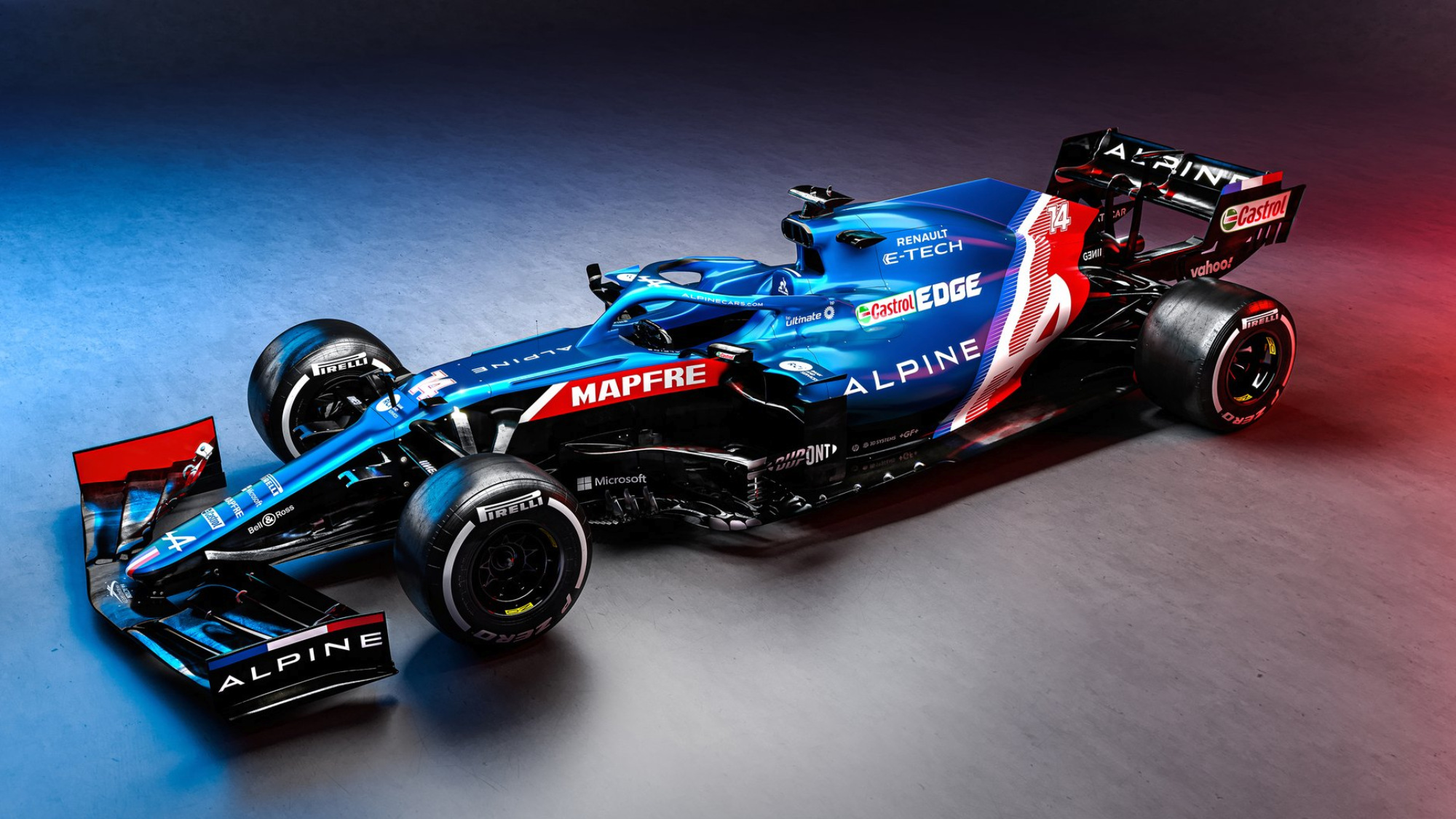 Alpine reveals 2021 F1 car and switch to blue