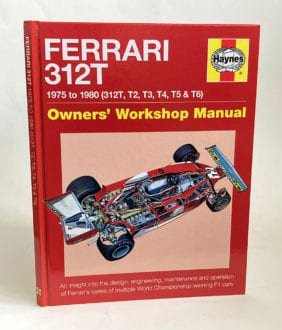 Product image for Jody Scheckter signed   Ferrari 312T   Haynes Owners Manual