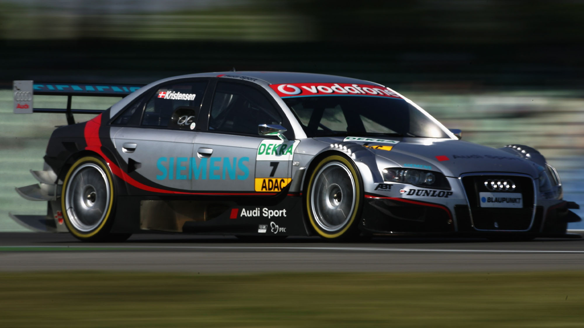 HOCKENHEIM, GERMANY - APRIL 20: Tom Kristensen of Denmark and Audi Sport Team Abt Sportsline in action during the second test for the first round of the DTM 2007 German Touring Car Championship at the Hockenheimring on April 20, 2007 in Hockenheim, Germany. (Photo by Lars Baron/Bongarts/Getty Images)