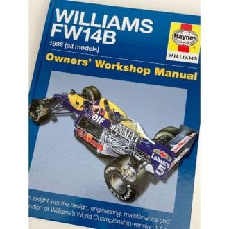 Product image for Nigel Mansell signed   Williams FW14   Haynes Owners Manual