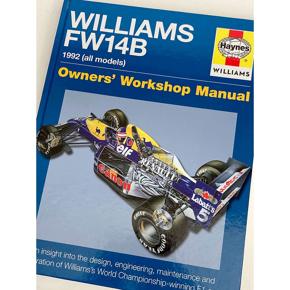 Product image for Nigel Mansell signed | Williams FW14 | Haynes Owners Manual