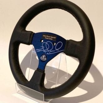 Product image for Nigel Mansell signed Lotus F1 steering wheel