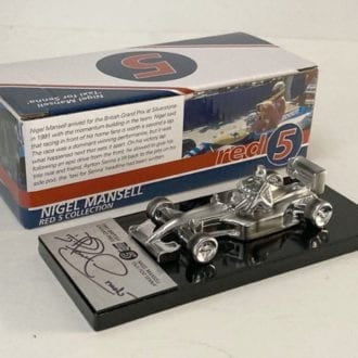 Product image for Nigel Mansell signed Williams FW14 'Taxi for Senna' 1/43 Sculpture