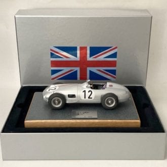 Product image for Stirling Moss signed Mercedes W196, 1955 British Grand Prix win, 1:18 Box Set