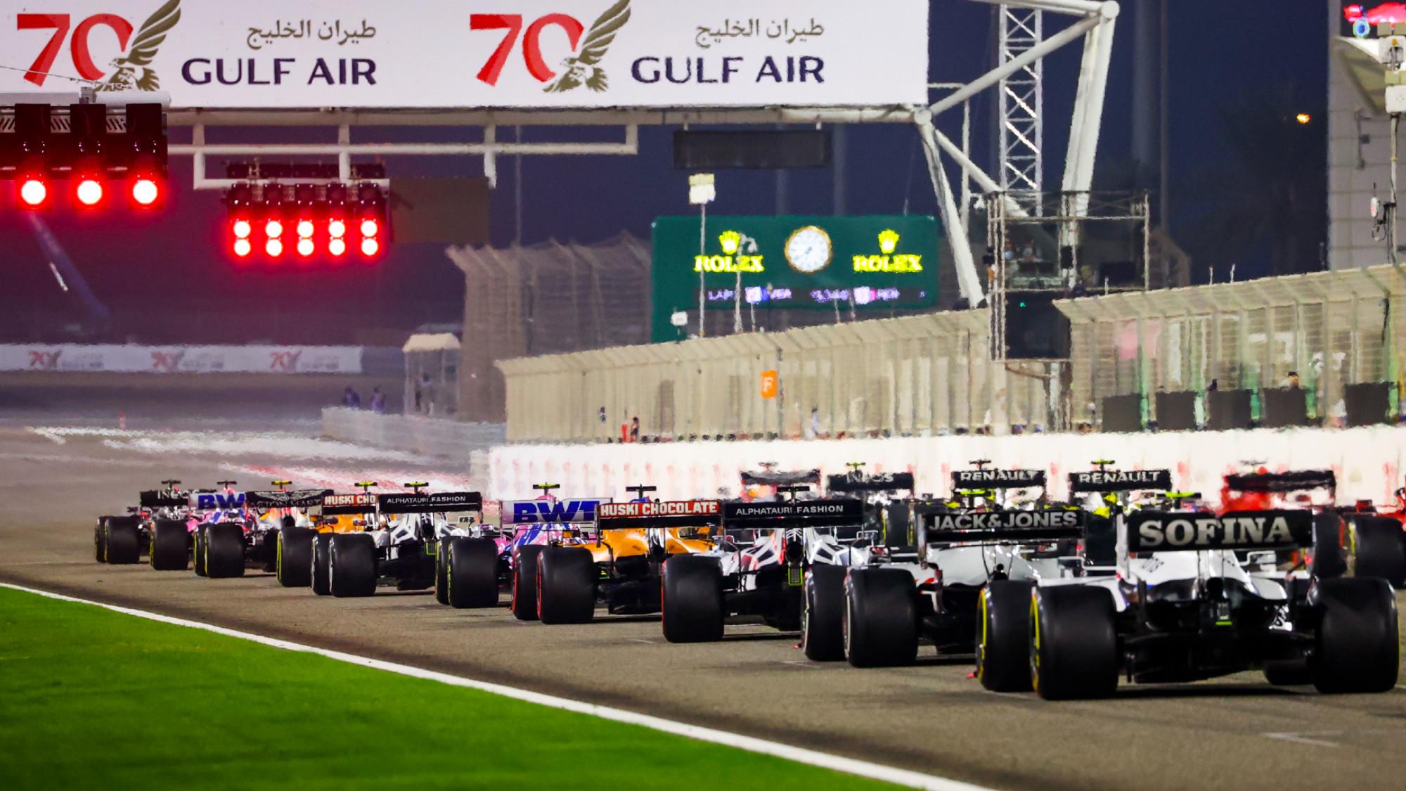 Start of Sakhir GP 2020