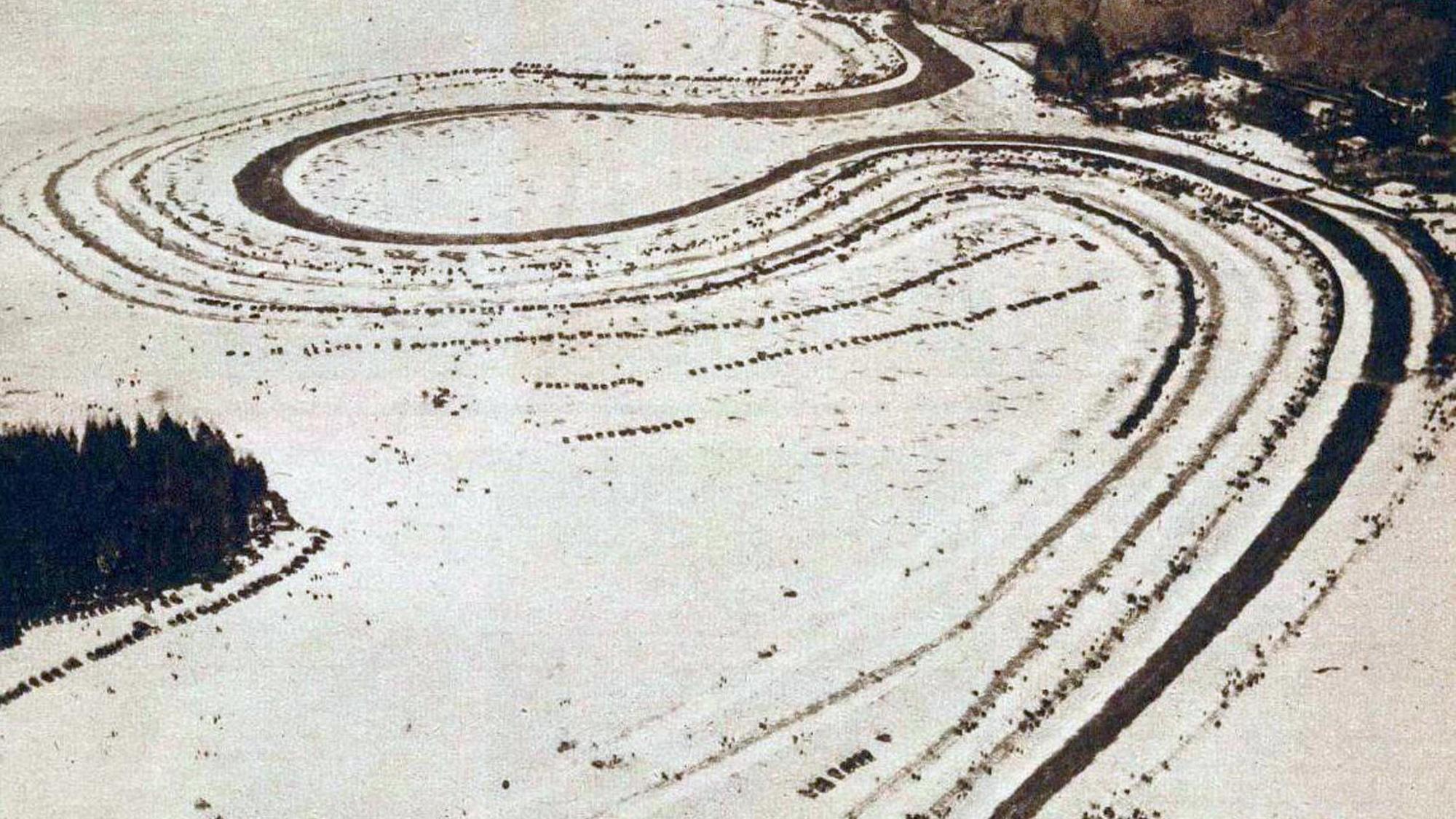 Lake Ramen circuit for the 1932 Swedish Winter Grand prix