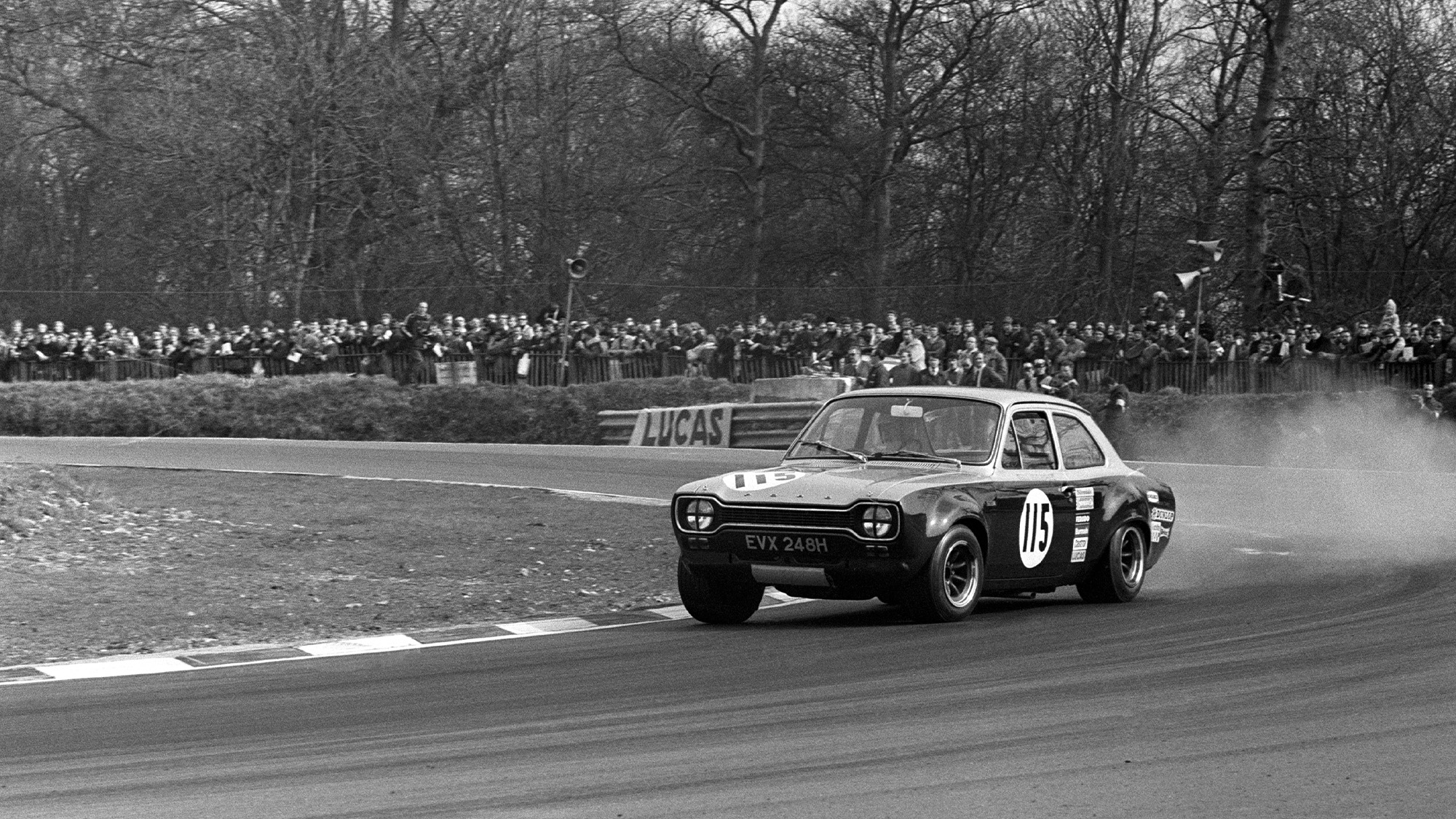 Chris Craft in a Ford Escort at the Guards Trophy Race at Brands Hatch 1970