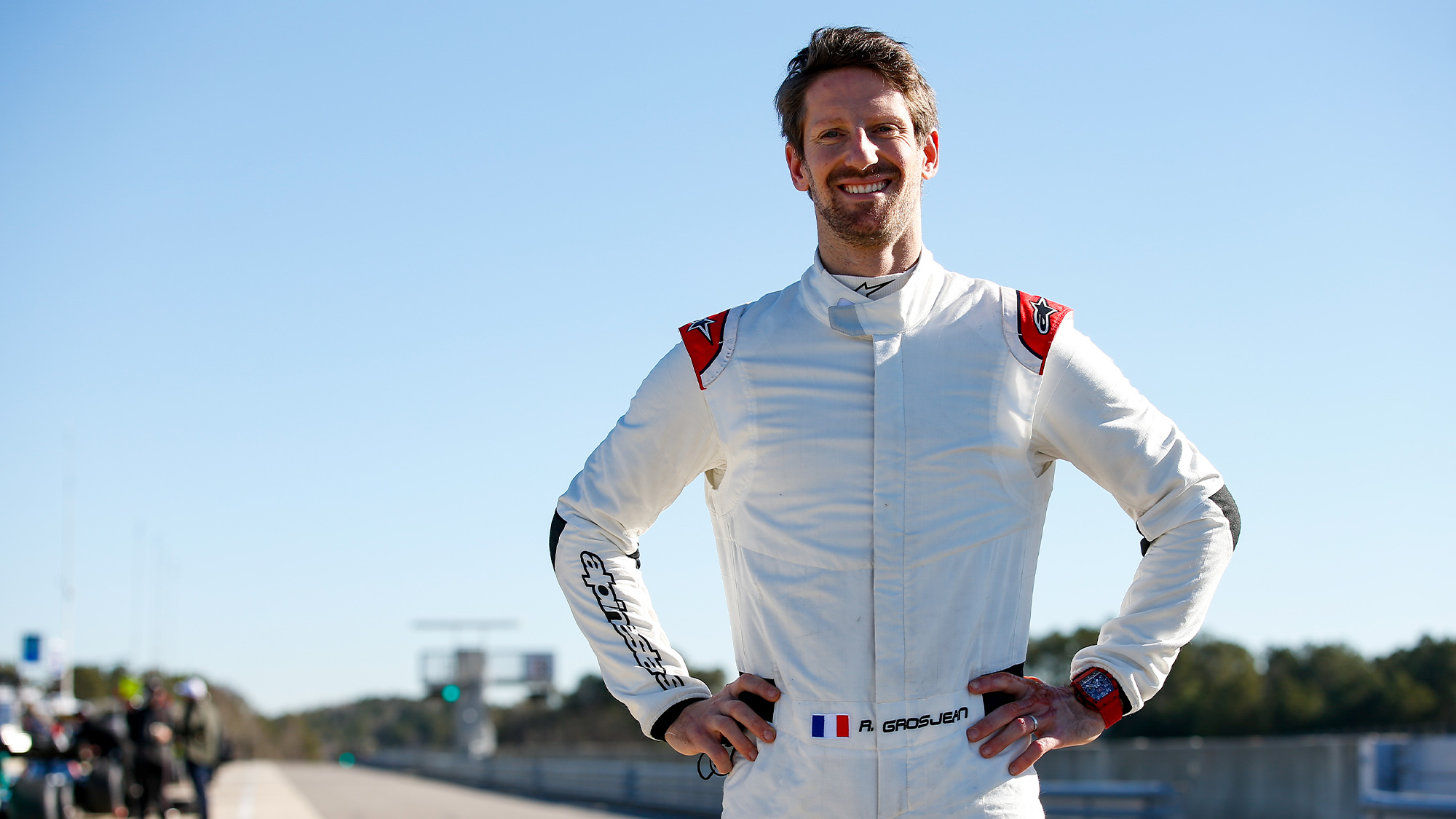 Getting back into a racing car 'felt like home', says Romain Grosjean