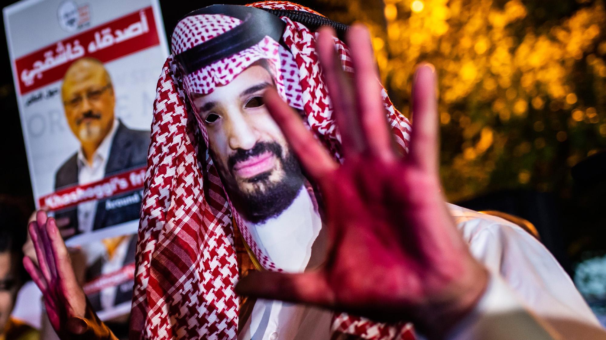 Jamal Khashoggi protestor