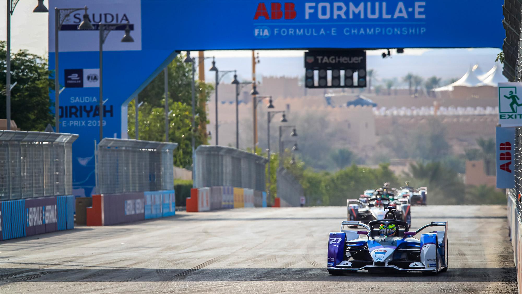2019 Formula E race in Saudi Arabia main straight