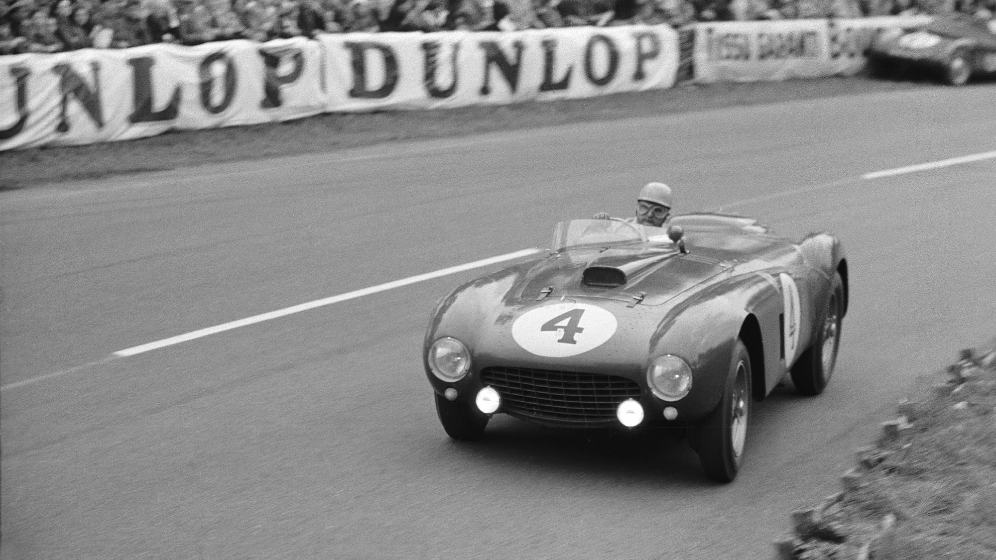 Froilan Gonzalez in his Ferrari 375 at the 1954 Le Mans 24 Hours