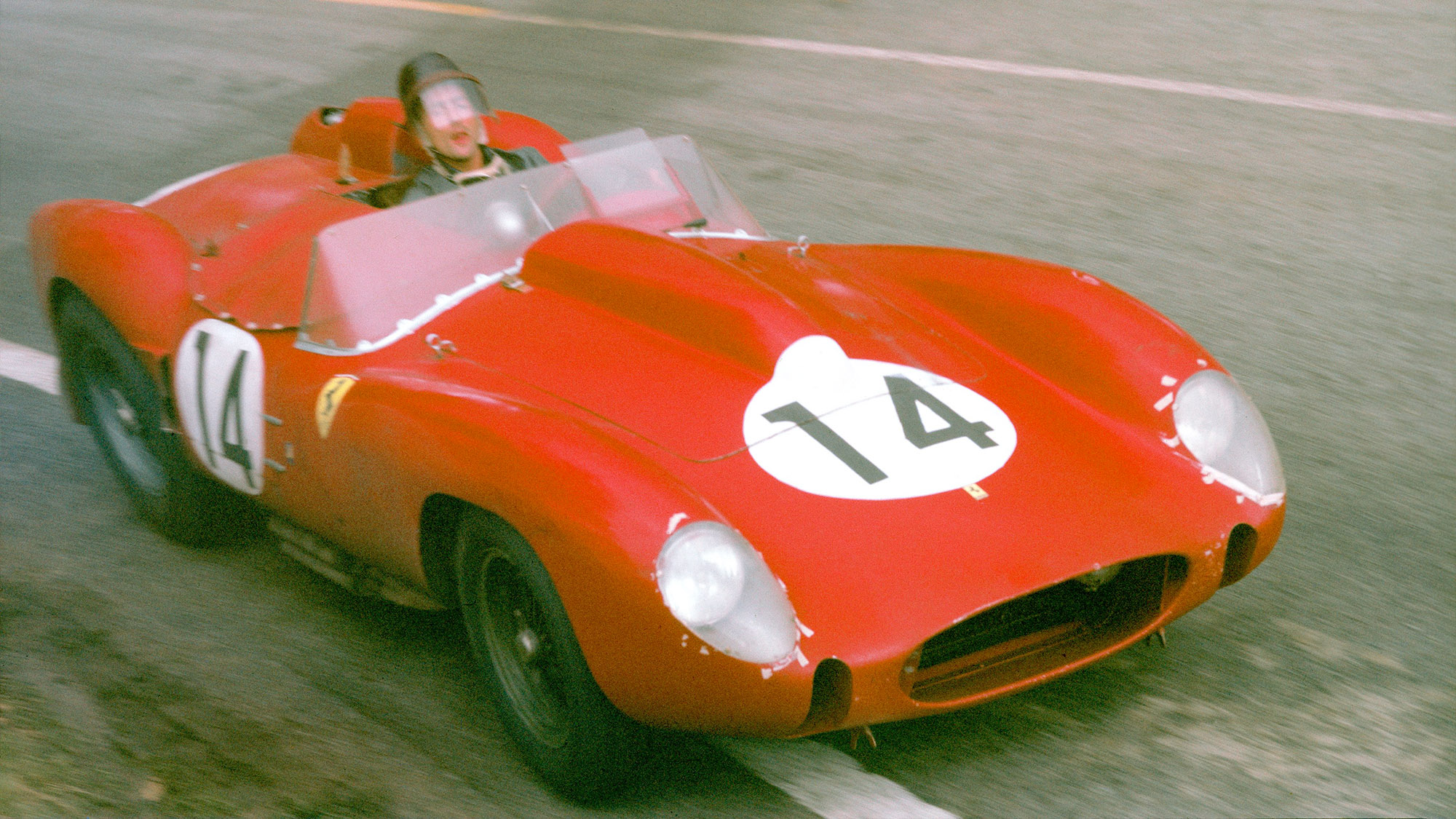 Phil Hill in his Ferrari 250TR at the 1958 Le Mans 24 Hours
