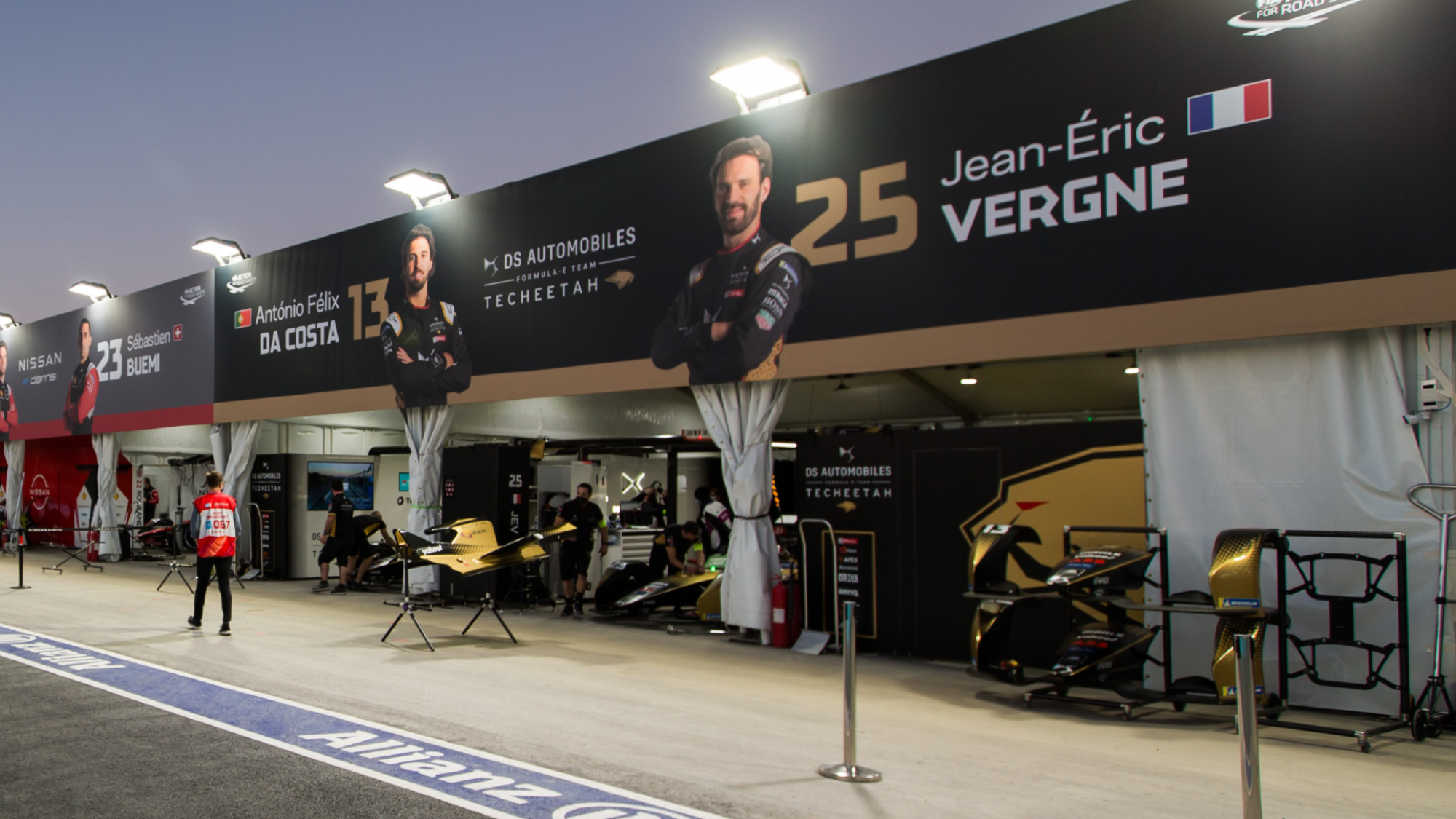 DS Techeetah garage in Saudi Arabia