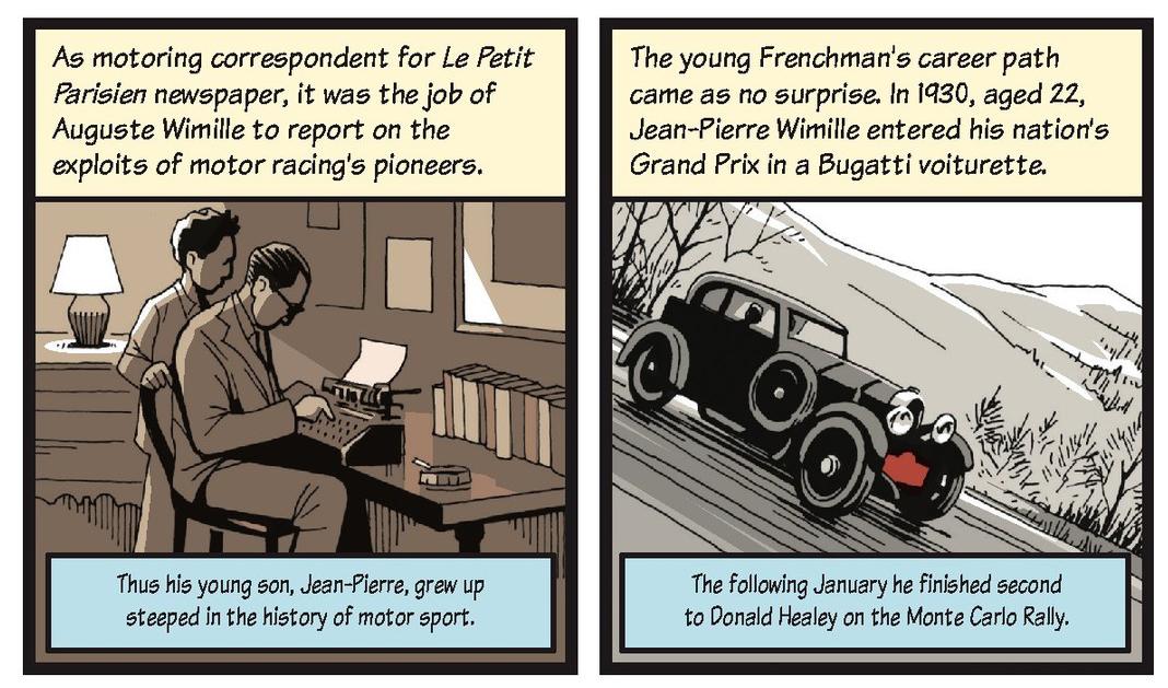 Jean-Pierre Wimille life story strip 1