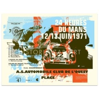 Product image for Porsche 917 | 1971 Le Mans 24 Hours Celebration | Poster no.1 | Studio Sportif | Art Print