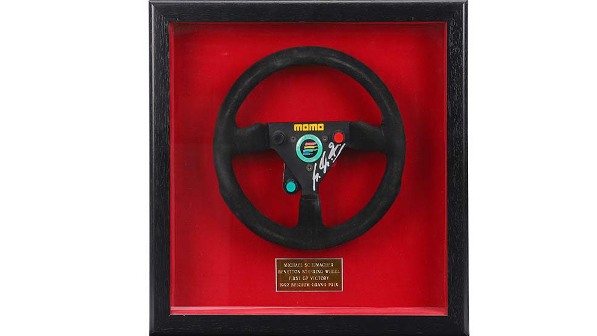 Michael Schumacher Benetton B192 steering wheel
