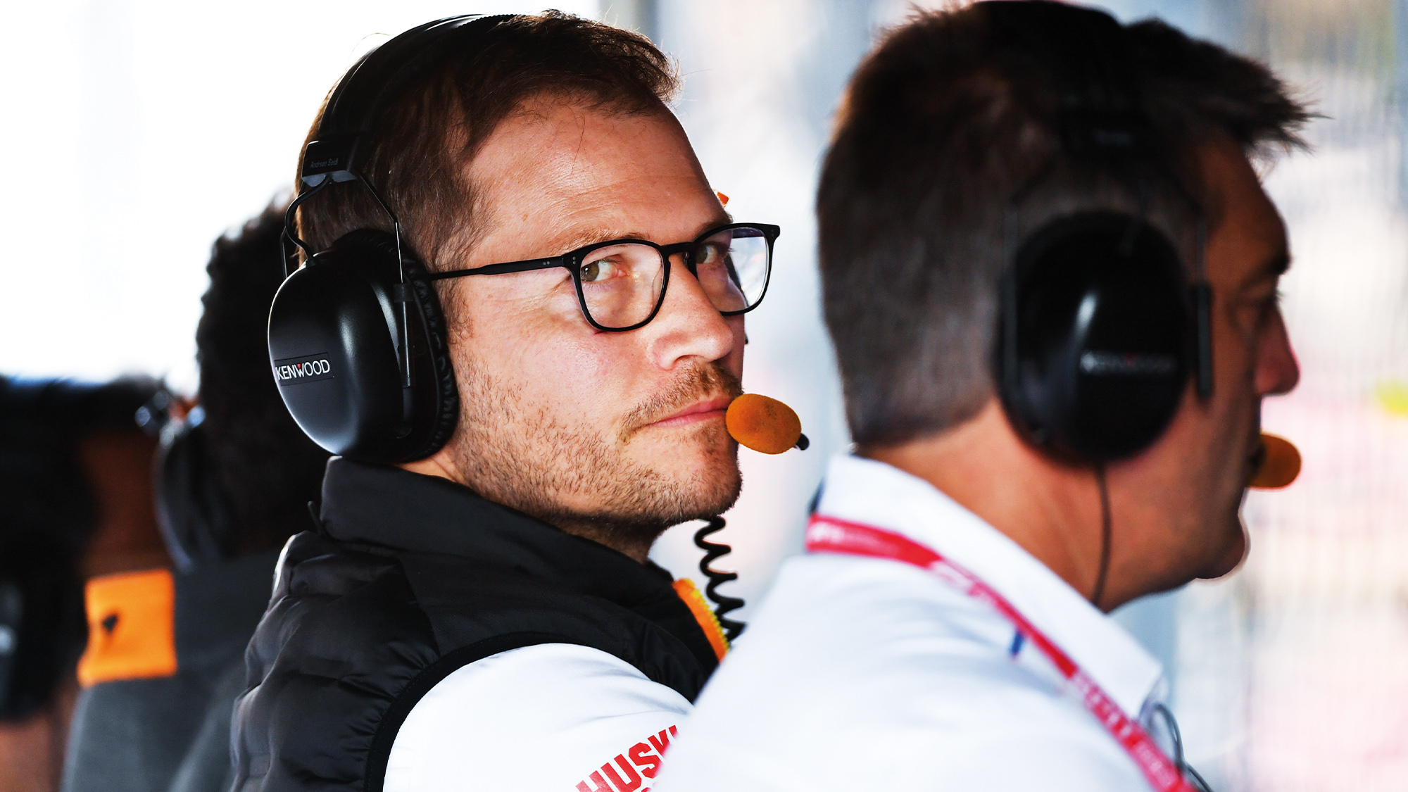 Andreas Seidl on the McLaren pitwall