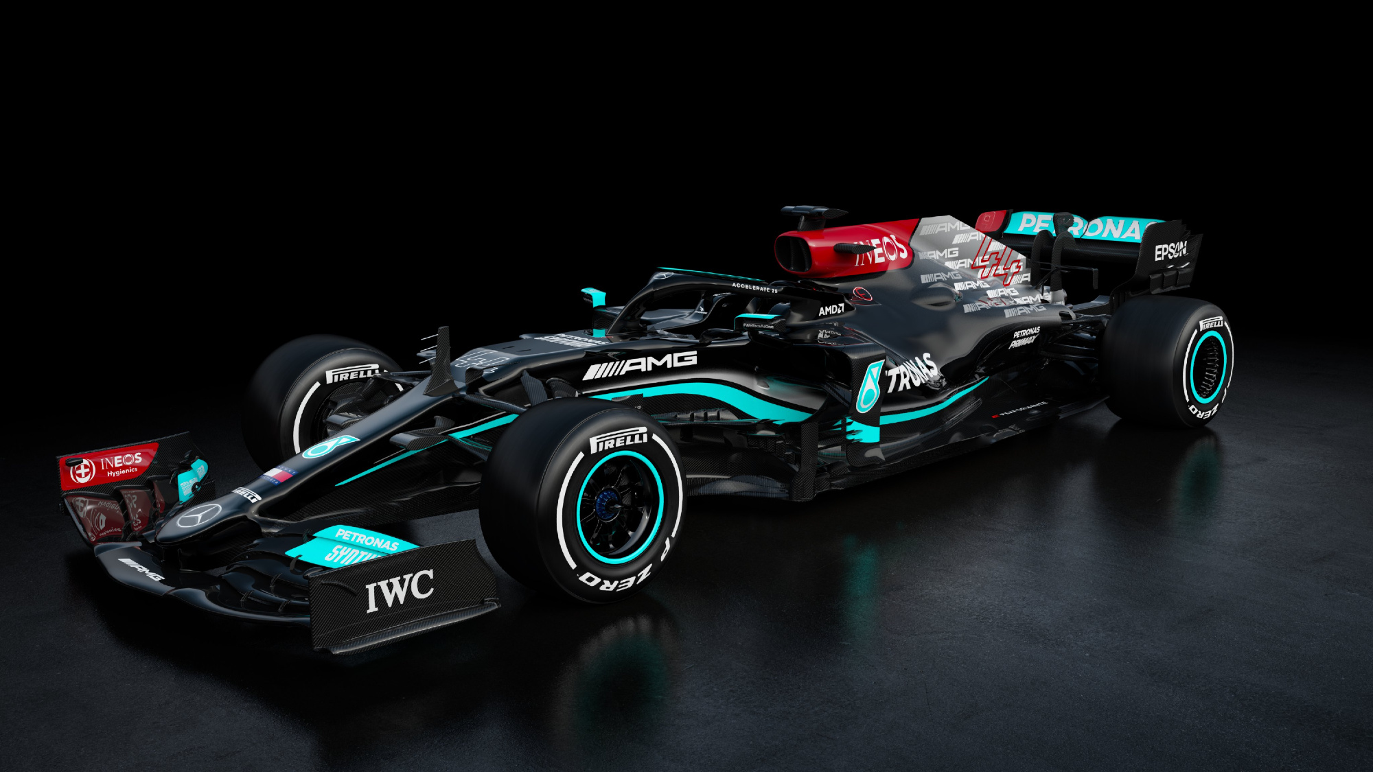 Mercedes reveals 2021 Formula 1 car with new AMG livery