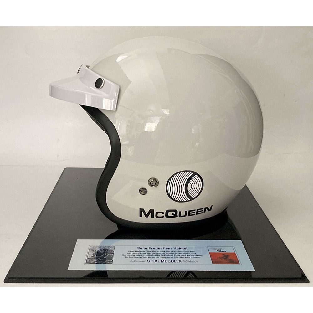 Product image for Steve McQueen 'On Any Sunday' full-size Bell helmet