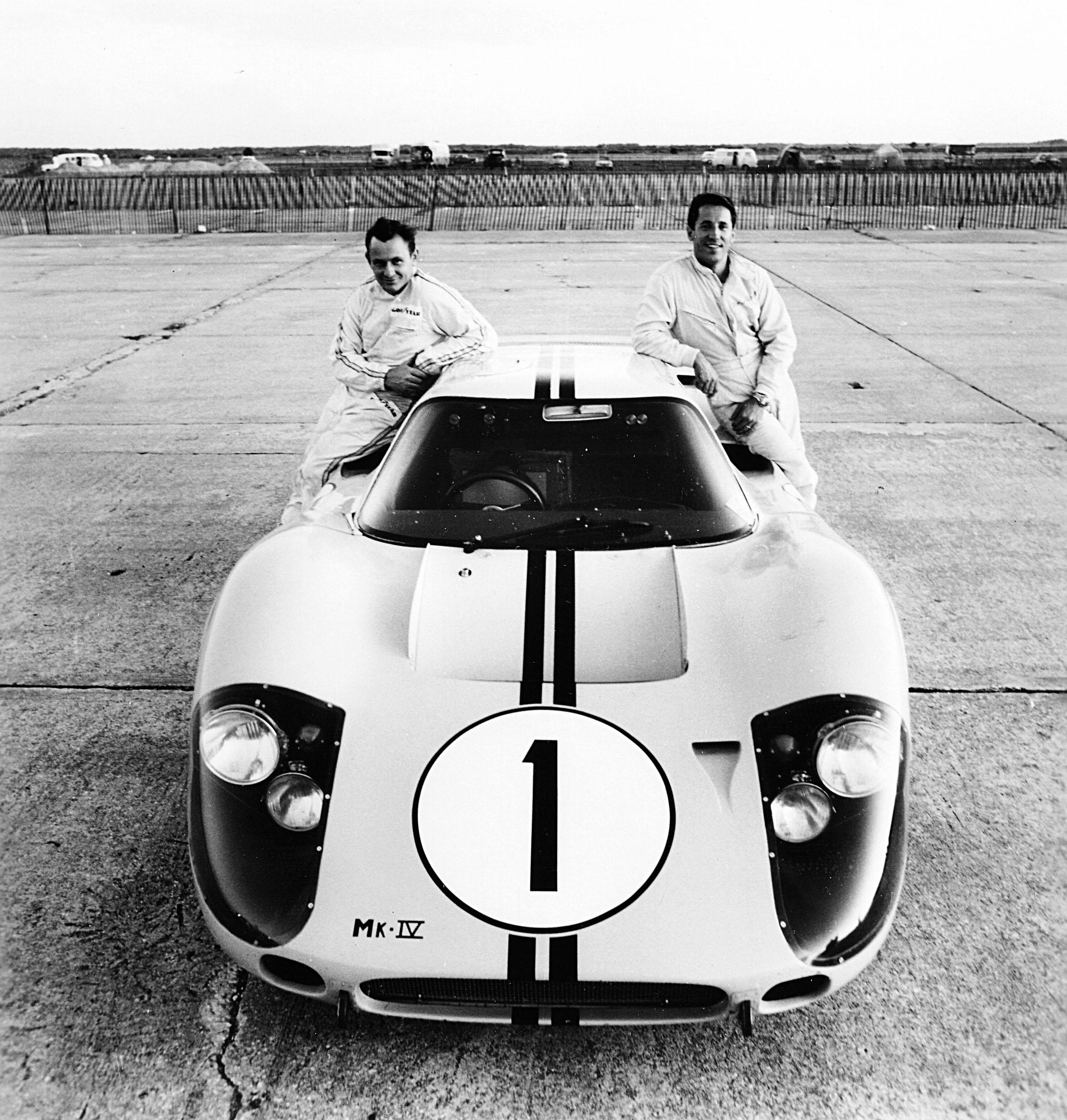 Bruce McLaren and Mario Andretti