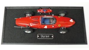 Phil Hill signed Ferrari model