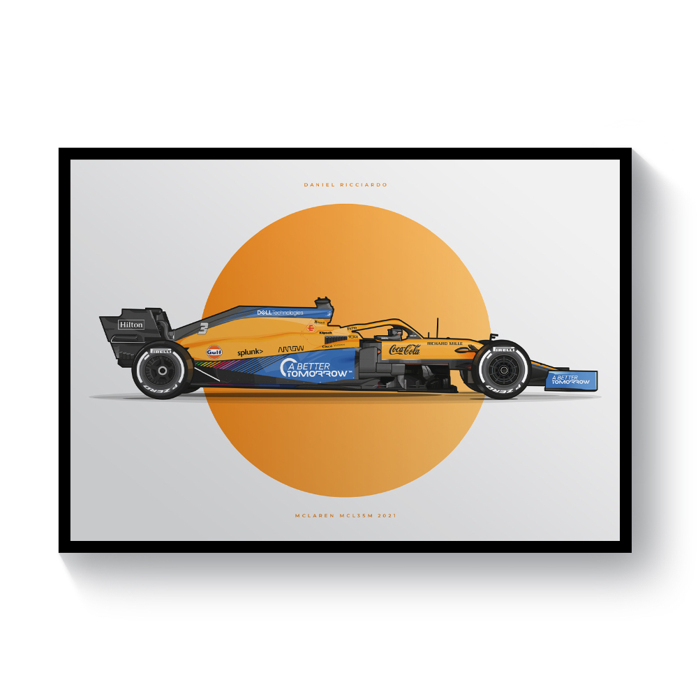 Product image for Daniel Ricciardo | McLaren MCL35M | Pit Lane Prints | Art Print
