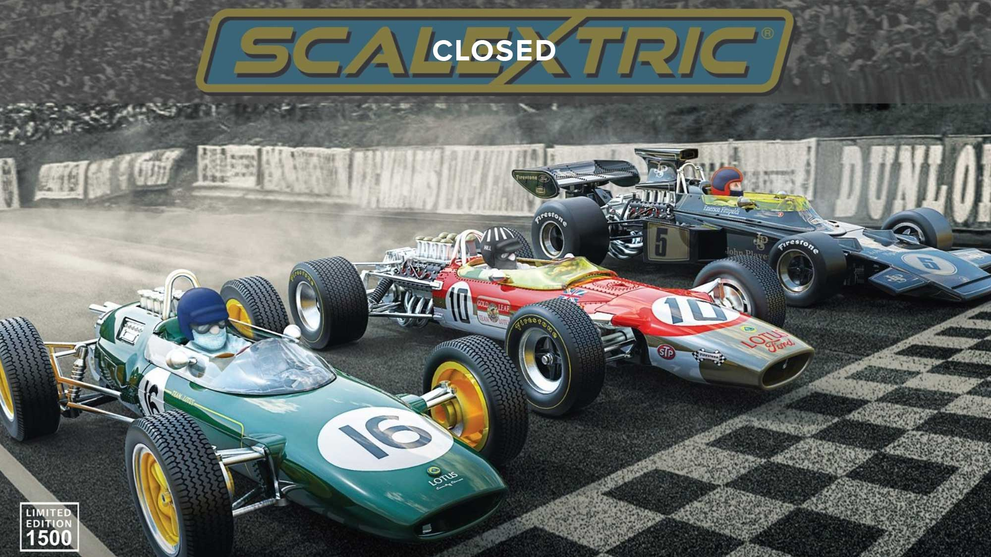WIN The Lotus GP Scalextric Triple Pack