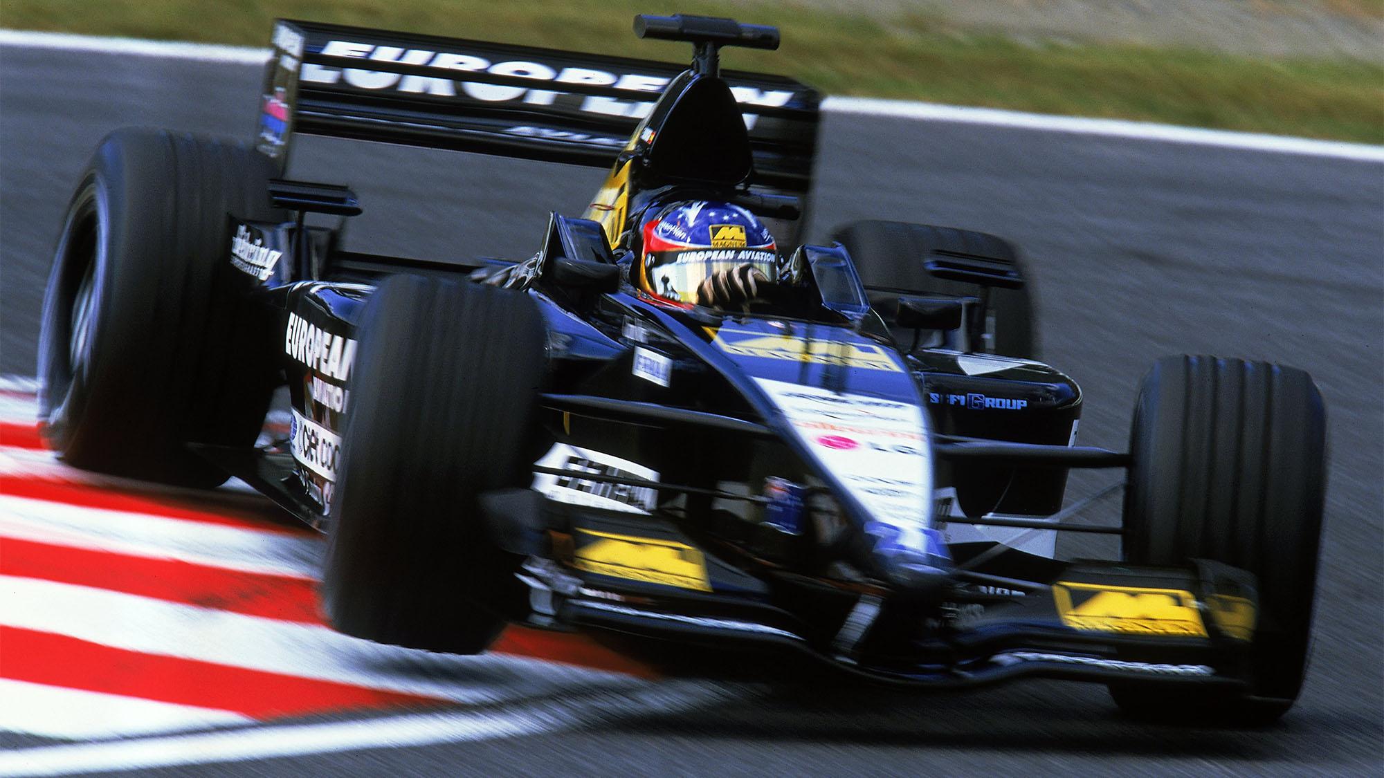 14 Oct 2001: Minardi driver Fernando Alonso of Spain puts his car through its paces during the Formula One Japanese Grand Prix held at Suzuka in Suzuka, Japan. \ Mandatory Credit: Clive Mason /Allsport