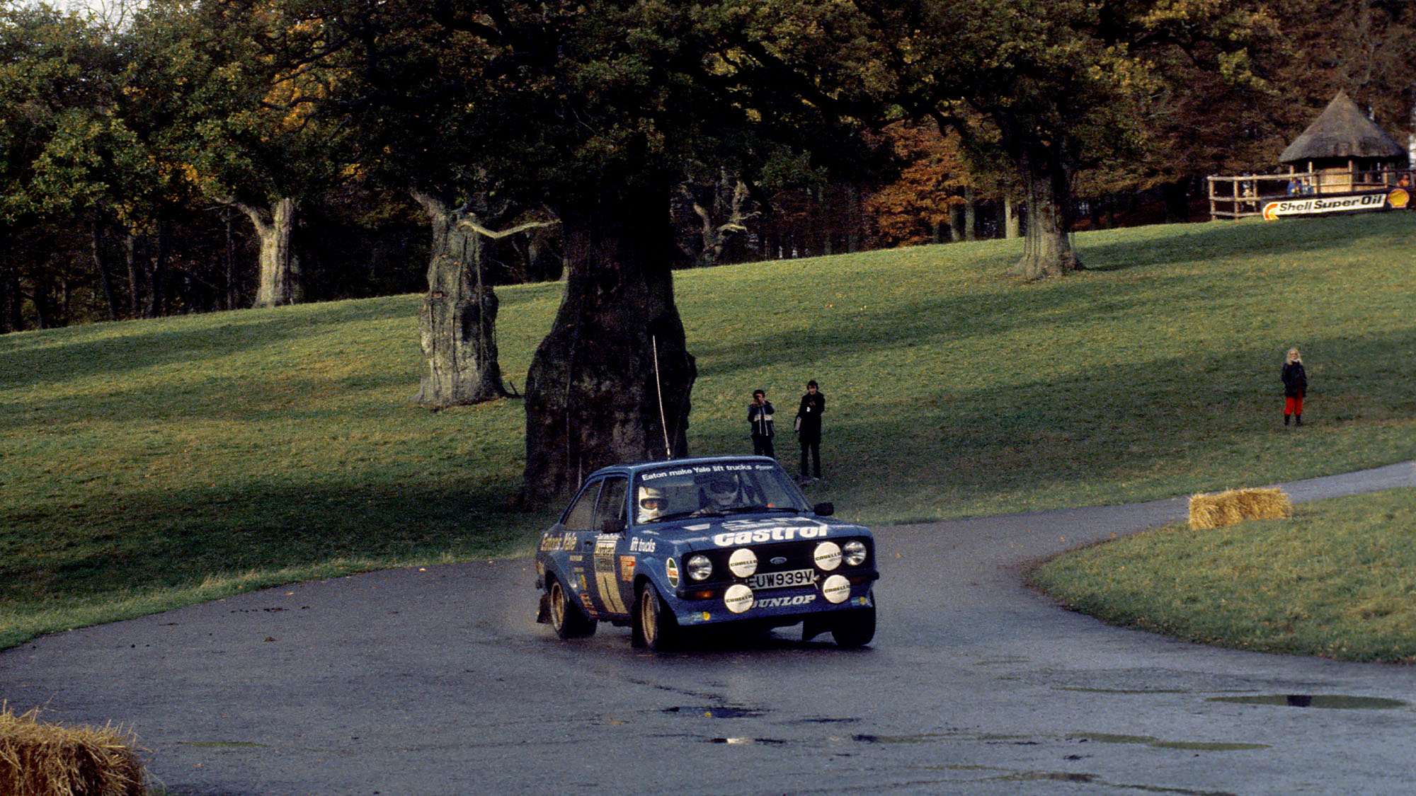 Hannu Mikkola Ford Escort on the 1980 RAC Rally