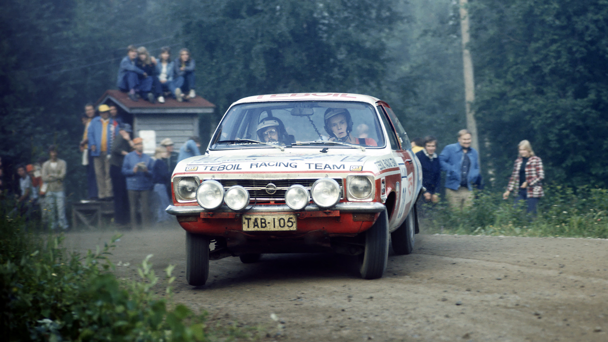 Ari Vatanen in Opel Ascona during the 1974 Finland Rally